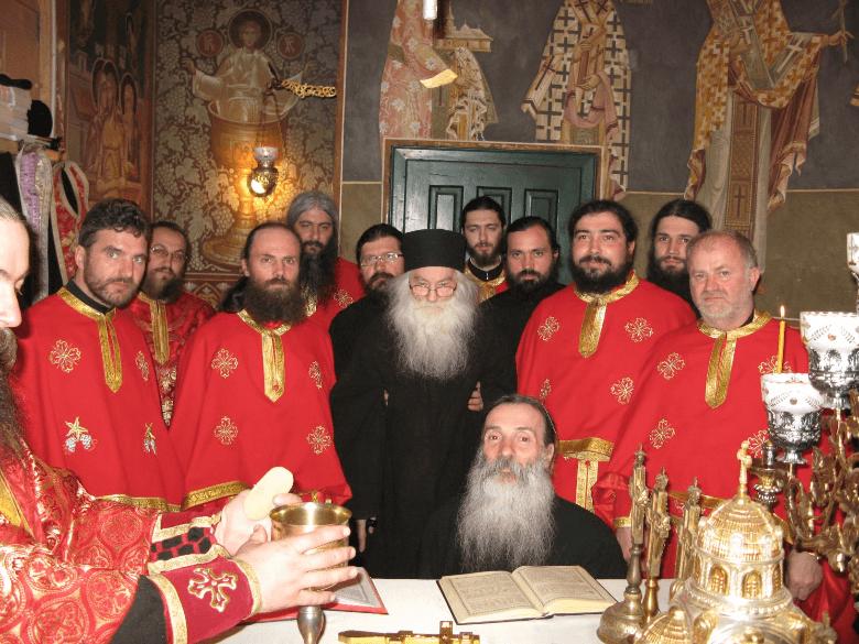 2011 Impreuna cu Părintele iustin de ziua lui